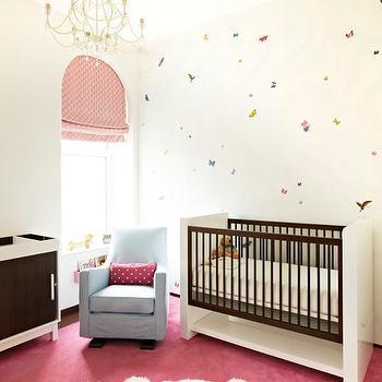 Pink And Blue Nursery Contemporary Nursery Derosa