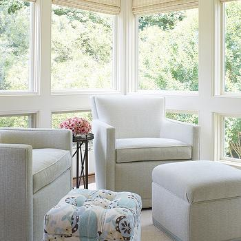 Sunroom With Gray Chairs Design Ideas