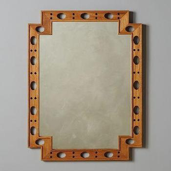 Cut-Out Teak Mirror