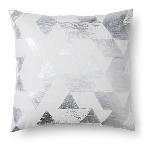 Nate Berkus Metallic Triangle Cream Decorative Pillow Extraordinary Nate Berkus Decorative Pillows