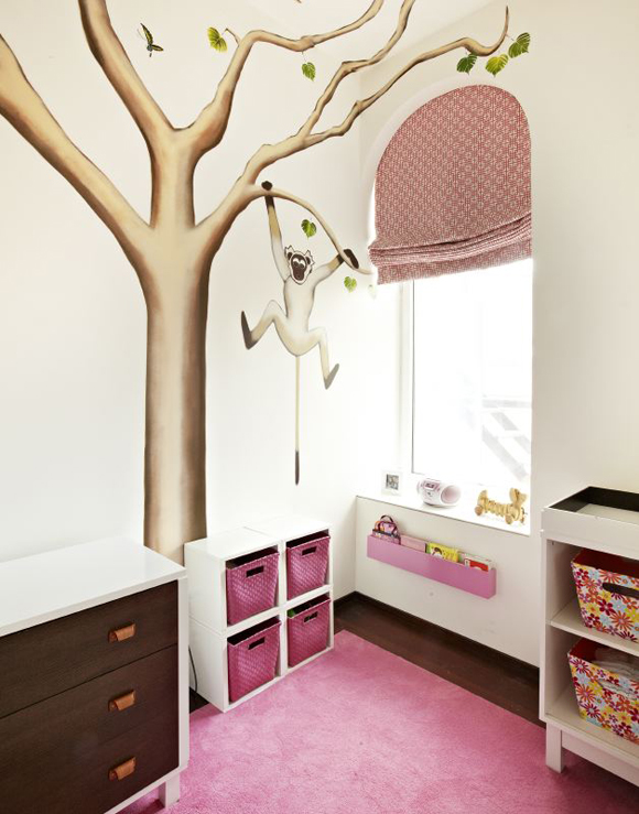 Nursery With Monkey In Tree Wall Mural Part 74