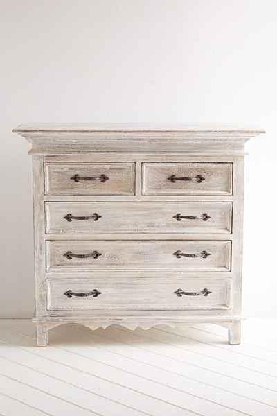 Padma White Washed Dresser