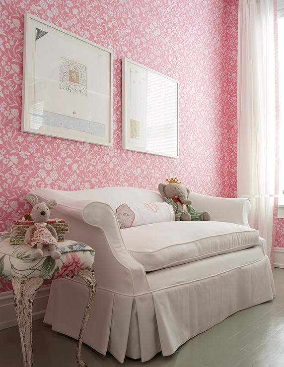 pink shabby chic kids room transitional girl 39 s room. Black Bedroom Furniture Sets. Home Design Ideas