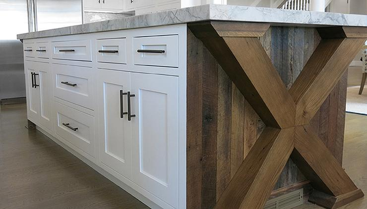 reclaimed wood kitchen islands x based kitchen island transitional kitchen 4535