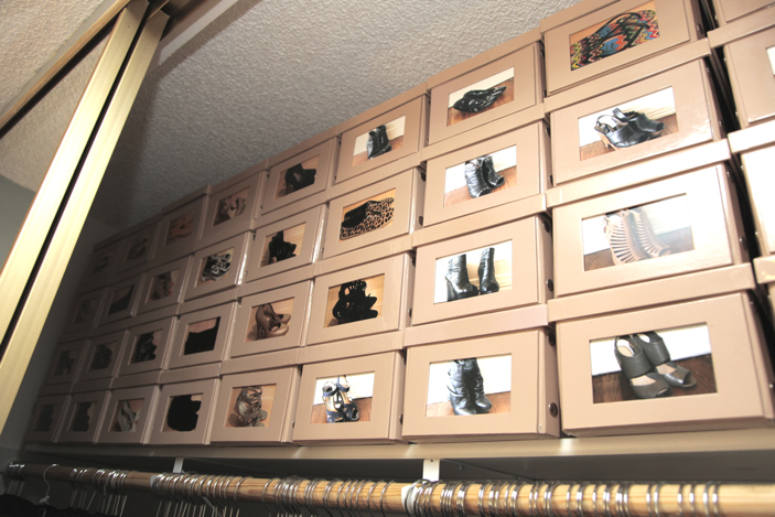 Shoe Boxes With Polaroids