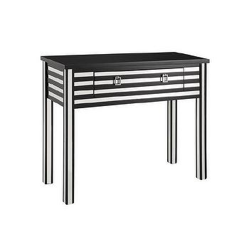 Powell Black and Mirror Sofa Table
