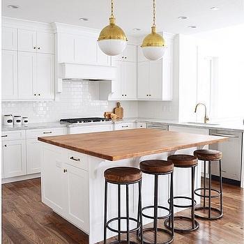 White Kitchen Island With Butcher Block Top white kitchen island with butcher block - transitional - kitchen