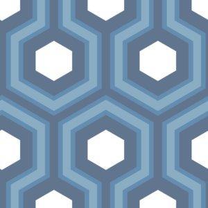 Hicks Blue Hexagon Wallpaper