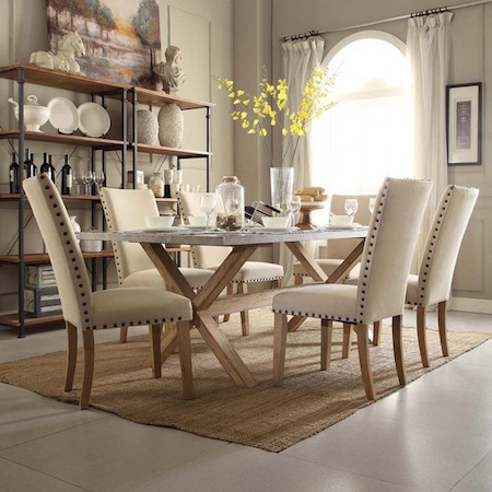 Pottery Barn Abbott Zinc Top Rectangular Dining Table Look For Less - Pottery barn trestle dining table