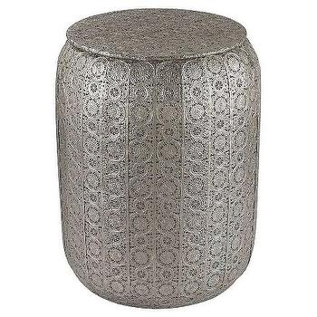 Nickel Decorative Metal Stool