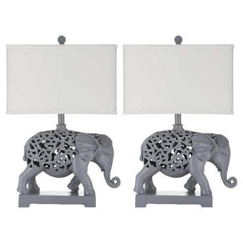 Safavieh Hathi Gray Elephant Sculpture Table Lamp