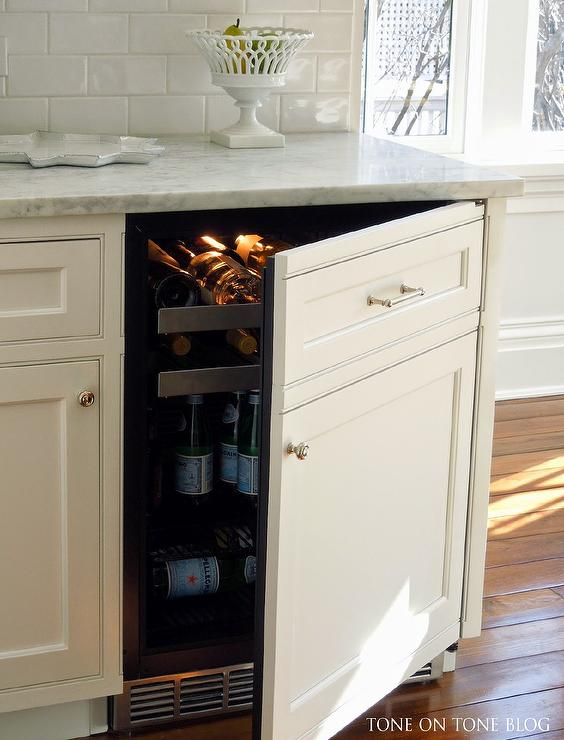 Hidden Small Kitchen Appliances Cabinet Transitional