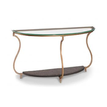 Magnussen Rachel Gold Demilune Sofa Table