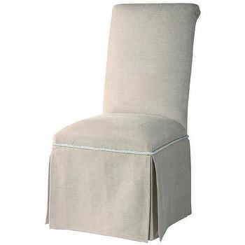 Parson Lumina Gray Armless Chair