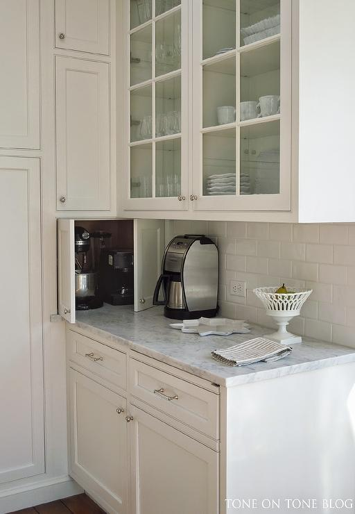 Hidden Small Kitchen Appliances Cabinet