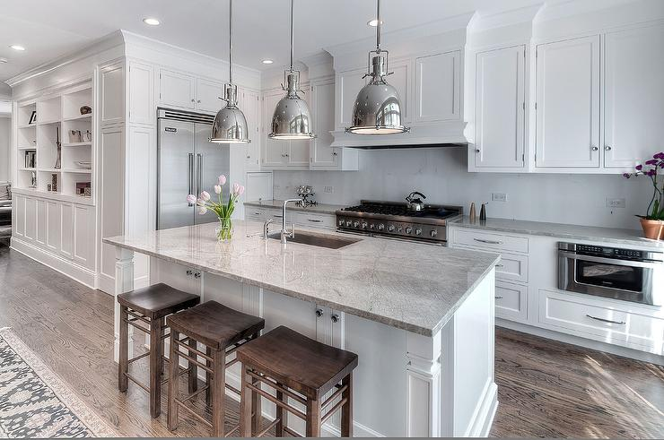 Super White Granite Countertops : Super white granite countertops transitional kitchen
