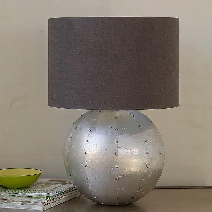 Empire silver table lamp base and shade aloadofball Choice Image