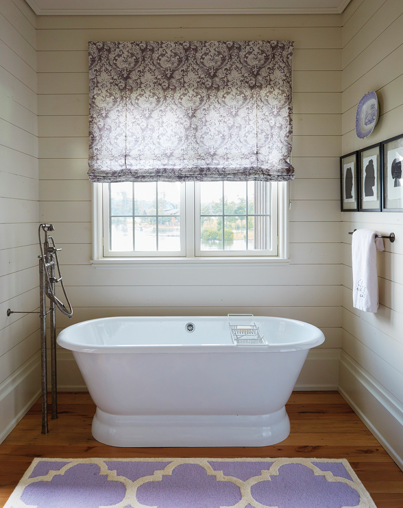 view full size. Bathroom With Roman Shade Design Ideas
