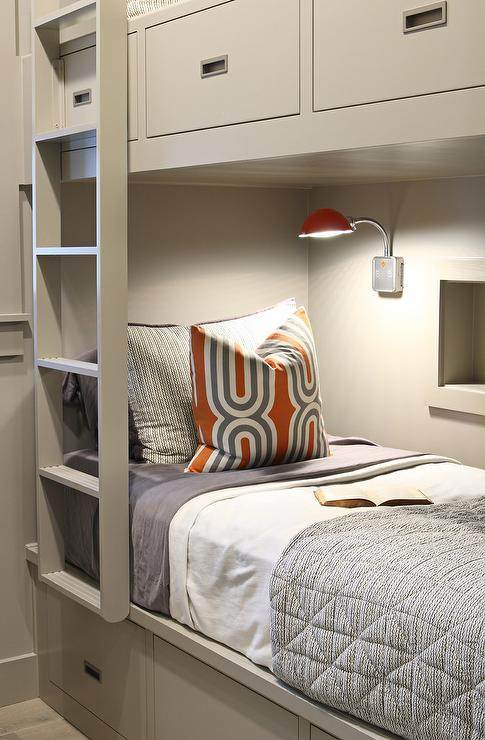 Gray And Orange Boys Bedrooms Contemporary Boy S Room
