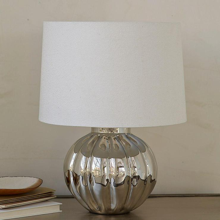 Landon silver table lamp base and shade aloadofball Choice Image
