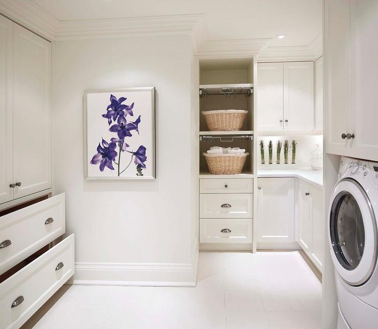 Bon Laundry Room With Pull Out Drying Racks