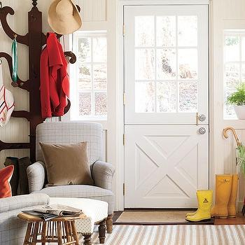 Country Mudroom Design, Country, Laundry Room