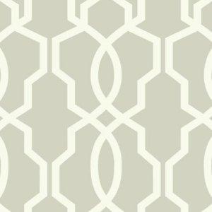 Ashford House Brown Hourglass Trellis Wallpaper