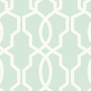 Ashford House Green Hourglass Trellis Wallpaper