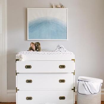 Nursery with Campaign Dresser, Transitional, Nursery
