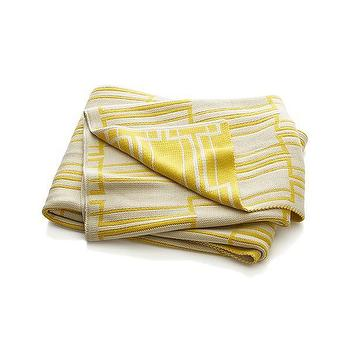 Miles Yellow Geometric Throw