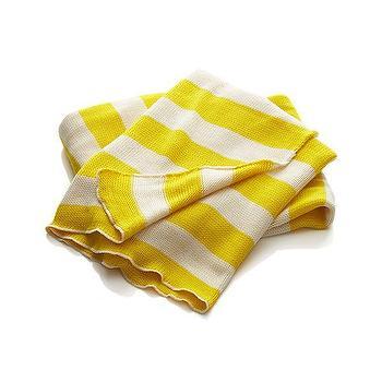Olin Yellow Stripe Throw