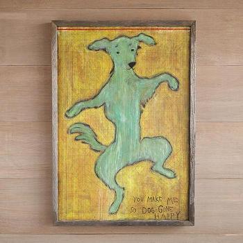 Doggone Happy Framed Print