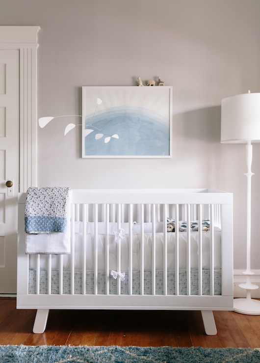 white and gray boys nursery transitional nursery