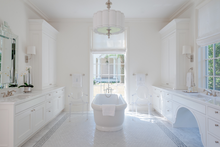 Ghost Chairs in Bathrooms - Transitional - Bathroom