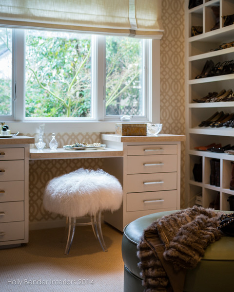 Sheepskin And Acrylic Vanity Stool