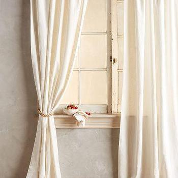 Tan Natural Linen Curtain