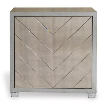 Chanel Lucite Silver Leaf Cabinet