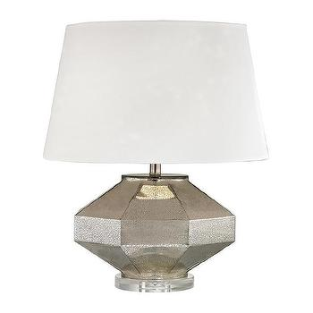 Dimond Lighting Silver Angular One Llight Blown Glass Table Lamp with Crystal Base