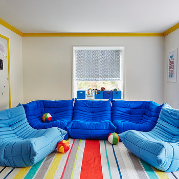 Playroom with Ligne Roset Togo Fireside Chairs, Contemporary, Boy's Room