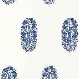 Schumacher Askandra Flower Delft Wallpaper