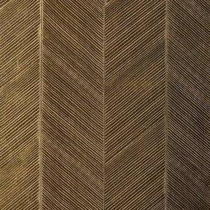 Schumacher Chevron Texture Burnished Bronze Wallpaper