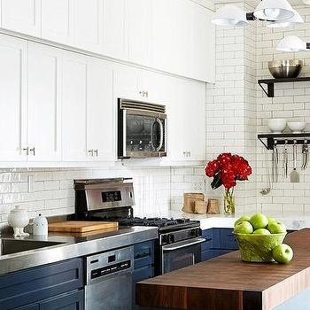 Navy Blue Kitchen Cabinets Design Decor Photos