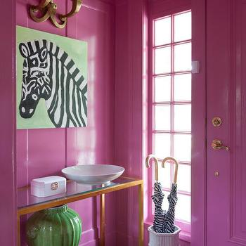 Pink Foyer Design, Contemporary, Entrance/foyer