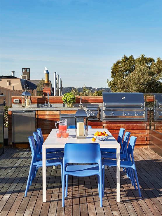 Rooftop Deck Ideas Transitional Deckpatio