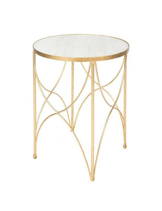 Grey pedestal round two tiered side table for Round gold side table
