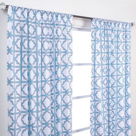 Very Softline Home Fashions Banning Curtains in White and Grey BF77
