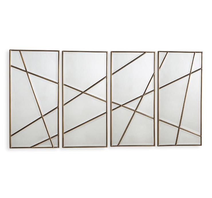 Wall Mirror Panels brass wall panelsinterlude home