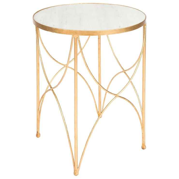 Aidan Gray Furniture Halmstad Gold Side Table View Full Size