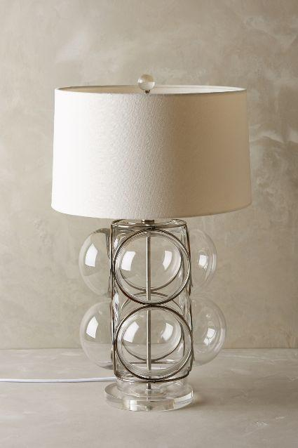 Lathered lucite glass bubble table lamp aloadofball Gallery