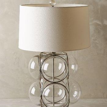 Lathered Lucite Lamp Ensemble